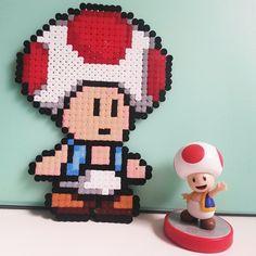 Toad Mario perler beads by naninougat