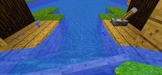 Fire your boat out to sea build a redstone dock and go from 0 to 100