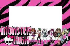 Free printable monster high birthday invitation party pinterest monster high kit completo com molduras para convites rtulos para guloseimas lembrancinhas e imagens filmwisefo