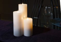 Add ambiance to your dinner table with SIMPLUX 3D Flame Candles.  http://www.wayfair.com/Set-of-3-Simplux-3D-Candles-3Set-DMPL1002.html
