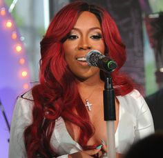 K Michelle Red Hair Bun ... Red hair on Pinterest | Rihanna red hair, K michelle and Red hair