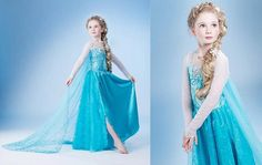 Brand Kids Baby Girls Princess dress Frozen Dress Elsa's and Anna's girl dresses,frozen princess elsa anna dress