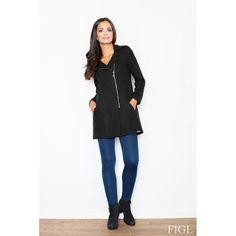 M405  Coat with zipper fastening