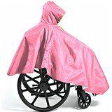CareActive Wheelchair Rain Poncho, Pink
