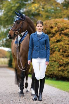 Horseware Competition collection: Competition jacket / Competition shirt / Competition breeches // Horse wears Horseware Grand Prix ear net and saddle pad and Rambo Micklem bridle.