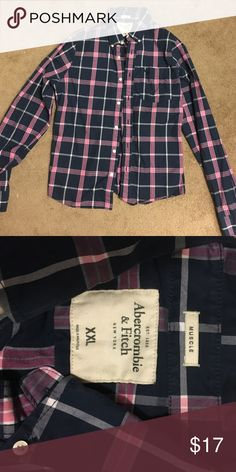 Abercrombie and Fitch Men's Button Down Flannel Really nice material- great condition! Only worn once! XXL Abercrombie & Fitch Shirts Casual Button Down Shirts