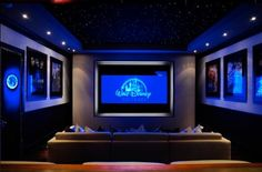 Home Theater Rooms Red Seating Small Speakers Luxury Couch Design Cozy Projector Setup Modern