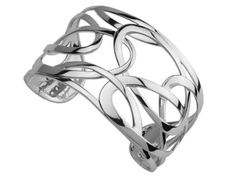 ELLE Sterling Silver Savory Collection Bangle Bracelet - Bangle, bracelet, Collection, ELLE, Savory, silver, Sterling - http://designerjewelrygalleria.com/roberto-coin/elle-sterling-silver-savory-collection-bangle-bracelet/