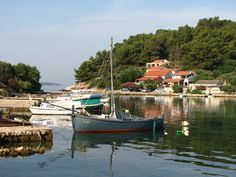 The cove of Gradina, near Vela Luka, island of Korčula, Croatia. Gradina is a very popular tourist destination and it boasts numerous holiday houses and apartments available for rent. Book your perfect vacations in Gradina.