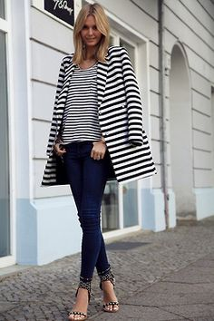 double dose of stripes // black & white