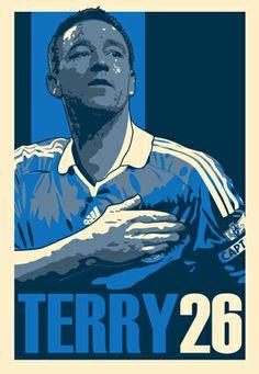 Terry 26... ♥ Football Art, Chelsea Football, Football Players, Chelsea Fc Wallpaper, John Terry, Stamford Bridge, Fulham, Love Affair, Blues