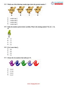 Olympiadtester for Class 1 Maths Olympiad preparation Grade 5 Math Worksheets, Teacher Worksheets, 5th Grade Math, Fifth Grade, Printable Worksheets, Grade 1, Printables, Sample Question Paper, Sample Paper