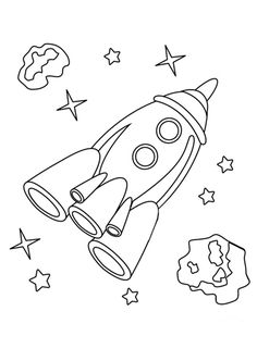 Раскраска для мальчиков - ракета