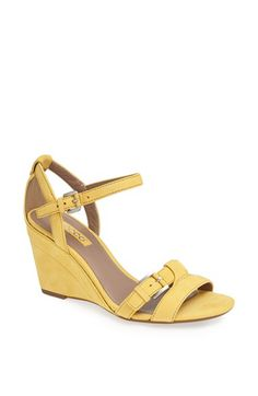 ECCO 'Rivas 75' Leather Wedge Sandal available at #Nordstrom