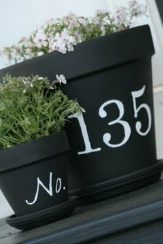Love this for house numbers! I may just do this!!!