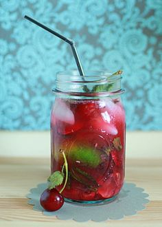 Bing Cherry Mojitos | Kitchen Treaty