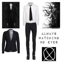 """Slenderman - Creepypasta - Cosplay"" by shadow-cheshire ❤ liked on Polyvore featuring Acne Studios, Yves Saint Laurent, Vero Moda, women's clothing, women's fashion, women, female, woman, misses and juniors"