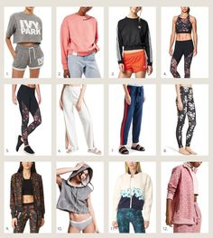 style me wants : work out wear // style me grasie grasie mercedes fashion style lifestyle blogger los angeles shopping series currently lusting athleisure work out clothes chic casual street wear jackets sweatshirts sweaters graphics ivy park rihanna puma calvin klein yoga jacket tory burch florals leggings yoga pants adidas under armour shop bop forever 21 rainbow stripes hoodie sweats ootd look