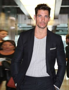 David Gandy: ELLE Man of the Week | Fashion, Trends, Beauty Tips & Celebrity Style Magazine | ELLE UK - Feb 2015 - He may have turned down a role in Fifty Shades of Grey, but Dandy Gandy (as we like to call him) is still the hottest name in town with a new M&S campaign that we simply cannot stop staring at. Like a real-life Don Draper, he's all charm and sex appeal and dons a three-piece suit like no other.  Eyes: penetrating Body: literally perfect  Personality: true gent
