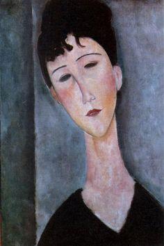 Retrato de Sabrina Modigliani.  Quand je connaîtrais ton âme,je peindrais tes yeux  Amedeo Modigliani