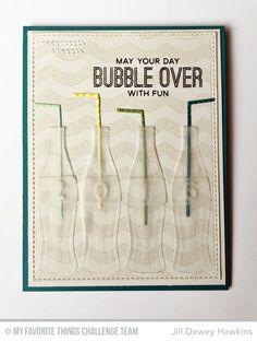 Soda Pop, Wave Background, Soda Bottles Die-namics - Jill Dewey Hawkins  #mftstamps