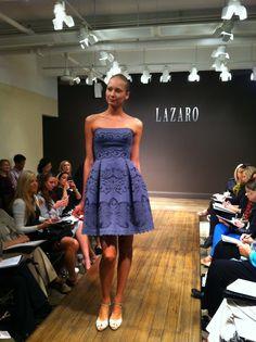 Graphite laser cut lace #cocktail dress! #NoirbyLazaro