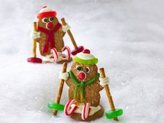 Ginger-Ski Men..  Ready-for-the-slopes sweets! Fun decorations turn store-bought cookies into something special.