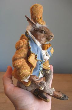 Anthropomorphic Rabbit Doll, fully articulated. $375.00, via Etsy.