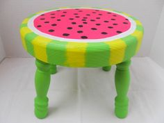 Watermelon Step Stool by WoodWorxDesigns on Etsy, $35.00
