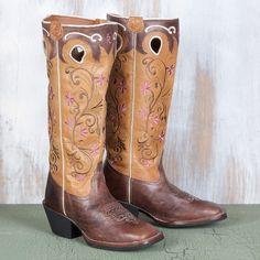 Tony Lama Ladies' Stove Pipe Buckaroo Boots
