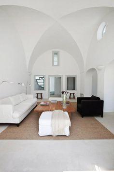 Imerovigli Villa | Santorinini, Greece    Love the ceilings!