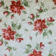 Regent's Park elegante Himbeer rot Floral von SuesFabricNSupplies