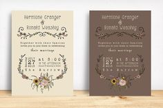 Wildflower Wedding Invitation Suite by Knotted Design on @creativemarket