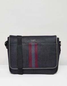 eee644ea7f97 Ted Baker Messenger Bag Buzard in Black Skinny Suits