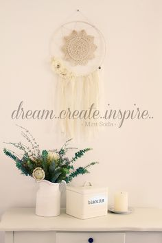The Vintage Dream Catcher looks at home with the native flowers of Australia.  www.mintsoda.com.au Dream Catchers, Soda, Mint, Australia, Create, Unique, Flowers, Vintage, Inspiration