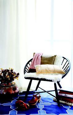 Madeline Weinrib Indigo Westley Cotton Carpet.