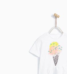 Image 2 of ICE CREAM T-SHIRT WITH FRILL from Zara