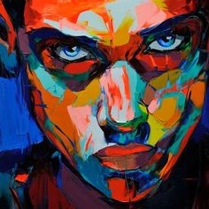 #Françoise Nielly Vibrant colours - love it