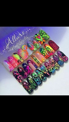 Creative Nail Designs, Diy Nail Designs, Colorful Nail Designs, Nail Designs Spring, Beautiful Nail Designs, Creative Nails, Cute Nails, Pretty Nails, Monogram Nails