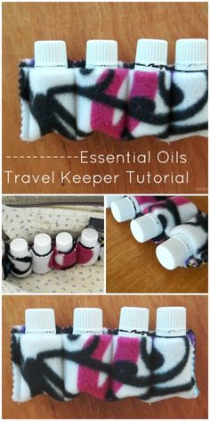 free essential oil bottle travel keeper tutorial Essential Oil Holder, Storage For Essential Oils, Essential Oil Blends, Essential Oil Carrying Case, Essential Oil Case, Essential Oil Carrier Oils, Essential Oil Bottles, Homemade Essential Oils, Doterra Essential Oils