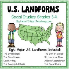 A perfect complement to the unit on geography! This packet includes everything you need to teach all about the 8 major U.S. landforms in a creative and interactive way.The 8 Major landforms included in this packet are:The Great BasinThe Gulf of MexicoThe Great LakesThe St.