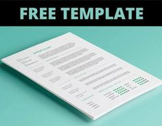 """Check out this @Behance project: """"FREE Resume Template"""" https://www.behance.net/gallery/15815893/FREE-Resume-Template"""