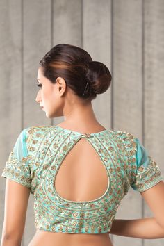 e91e8b1844d14  blouse  blouses  green  princesscut  zari  stone  embroidery  work   fashion  design  shopping  shop  beauty  look  love  zenfashions  indian   NewYear2018 ...