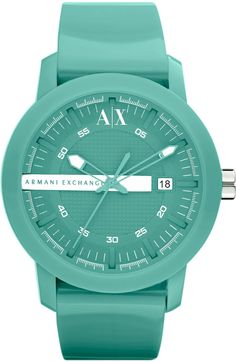 OMG I LOVE THIS!!!! Turquoise Pop Watch - Color Pop - Watches - Accessories - Armani Exchange