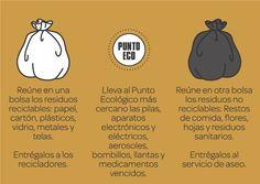 Aprender a separar en la casa, oficina o establecimiento educativo los residuos generados y la presentación en dos bolsas. Basura Cero. Bogotá Humana.
