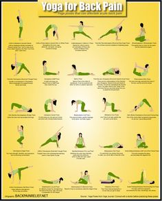 Yoga poses that can alleviate acute back pain.