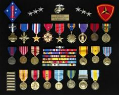 View Lewis Puller memorial on Discover and add pictures, bio information and documents about the life of Lewis Puller Us Military Medals, Military Ribbons, Military Memorabilia, Military Shadow Box, Military Love, Military Jeep, Military Art, Chesty Puller, Marines Boot Camp