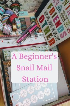 A Beginner's Snail Mail Station - The Reading Residence Pen Pal Letters, Pocket Letters, Diy Letters, Mail Station, Mail Tag, Snail Mail Pen Pals, Snail Mail Gifts, Fun Mail, Letter Writing