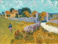 """Happy birthday to Vincent van Gogh, born on this day in 1853. The artist painted """"Farmhouse in Provence"""" in 1888 after arriving in Arles.…"""