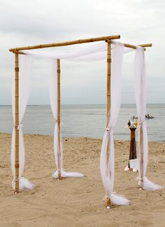 Bamboo Wedding Arch minus these decorations | Wedding Arches ...